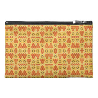 Fun Geometric Orange and Yellow Travel Accessory Bag
