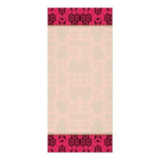 Fun Geometric Pattern Bold Pink and Black Rack Card