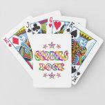 Fun Gerbils Rock Bicycle Poker Deck