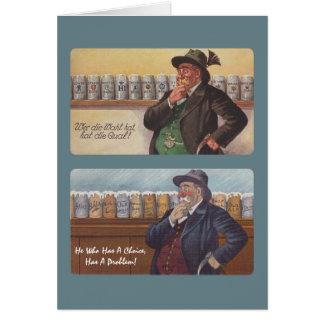 Fun German Proverb Greeting Card Friend Friendship