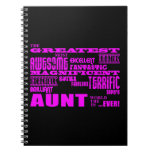 Fun Gifts for Aunts : Greatest Aunt Notebooks