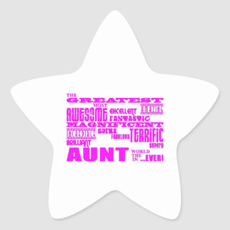 Fun Gifts for Aunts : Greatest Aunt Star Sticker
