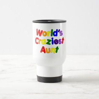 Fun Gifts for Aunts : World's Craziest Aunt Travel Mug