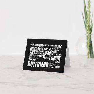 Fun Gifts for Boyfriends : Greatest Boyfriend card