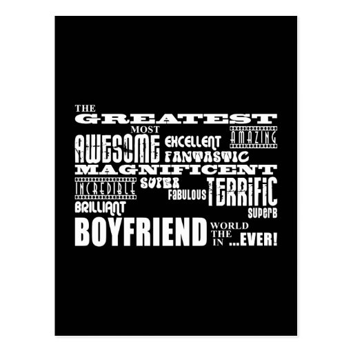 Fun Gifts for Boyfriends : Greatest Boyfriend Post Cards