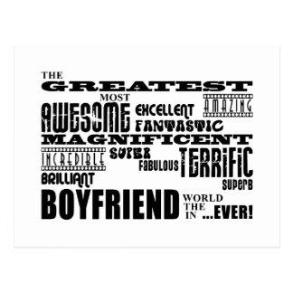 Fun Gifts for Boyfriends : Greatest Boyfriend Postcard