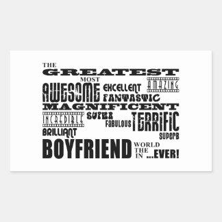 Fun Gifts for Boyfriends : Greatest Boyfriend Rectangular Sticker