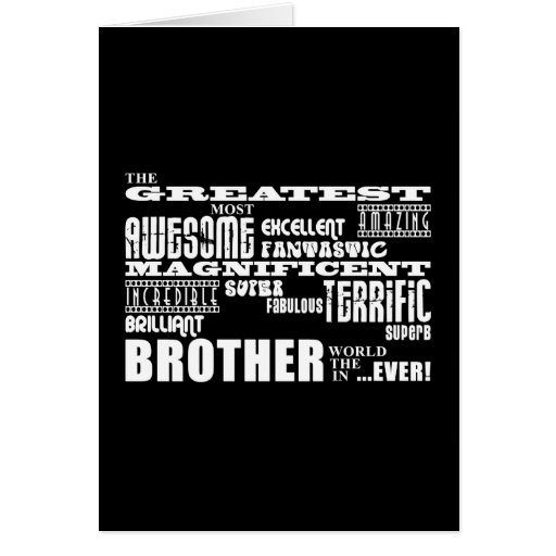 Fun Gifts for Brothers : Greatest Brother Greeting Card