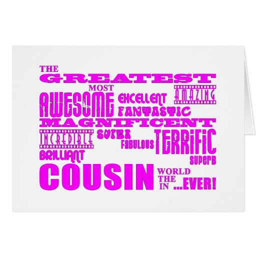 Fun Gifts for Cousins : Greatest Cousin Stationery Note Card