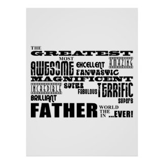 Fun Gifts for Dads Greatest Father Poster