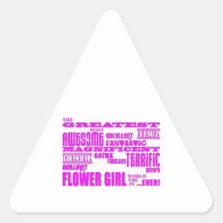 Fun Gifts for Flower Girls Greatest Flower Girl Triangle Sticker