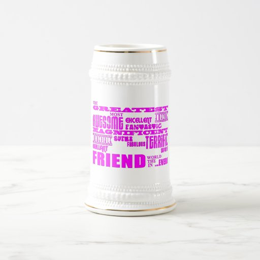 Fun Gifts for Friends : Greatest Friend 18 Oz Beer Stein