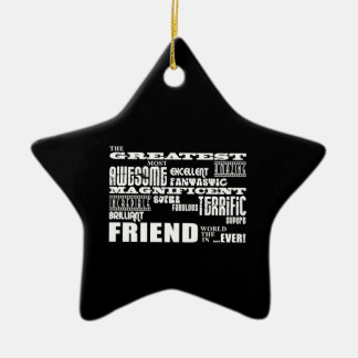 Fun Gifts for Friends : Greatest Friend Christmas Tree Ornaments