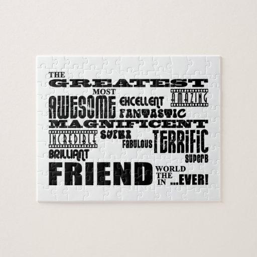 Fun Gifts for Friends : Greatest Friend Puzzle