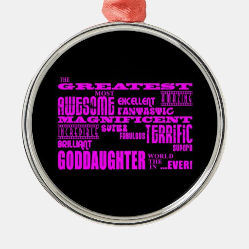 Fun Gifts for Goddaughters : Greatest Goddaughter Christmas Tree Ornament