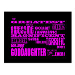 Fun Gifts for Goddaughters : Greatest Goddaughter Post Card
