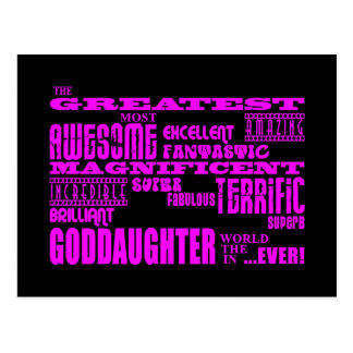 Fun Gifts for Goddaughters : Greatest Goddaughter Postcard