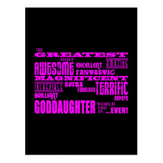 Fun Gifts for Goddaughters Greatest Goddaughter Postcards