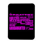 Fun Gifts for Goddaughters : Greatest Goddaughter Rectangle Magnets