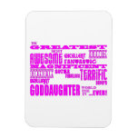 Fun Gifts for Goddaughters : Greatest Goddaughter Vinyl Magnets