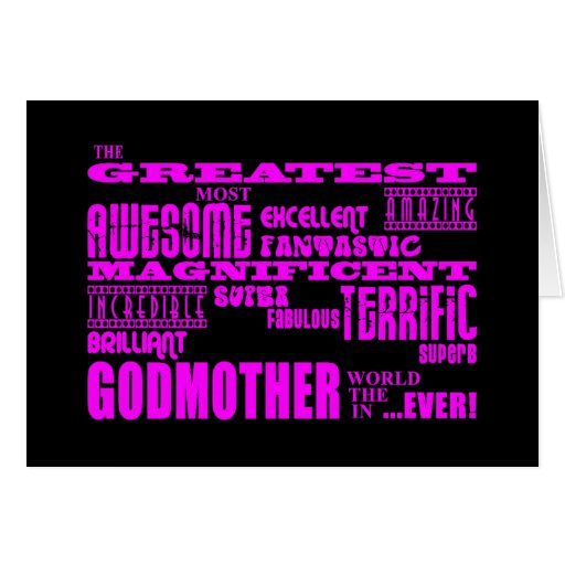 Fun Gifts for Godmothers : Greatest Godmother Stationery Note Card