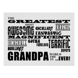 Fun Gifts for Grandfathers : Greatest Grandpa Poster