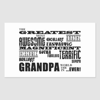 Fun Gifts for Grandfathers : Greatest Grandpa Rectangular Sticker