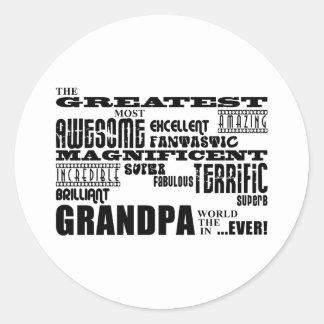 Fun Gifts for Grandfathers : Greatest Grandpa Sticker