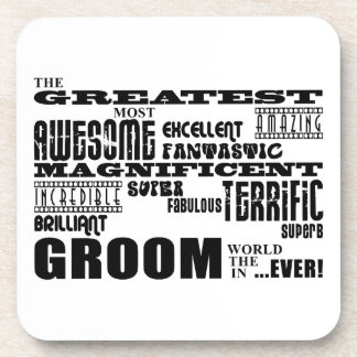 Fun Gifts for Grooms : Greatest Groom Beverage Coasters