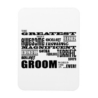 Fun Gifts for Grooms : Greatest Groom Vinyl Magnet