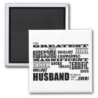 Fun Gifts for Husbands : Greatest Husband 2 Inch Square Magnet