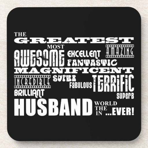 Fun Gifts for Husbands : Greatest Husband Coasters