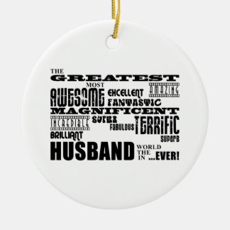 Fun Gifts for Husbands : Greatest Husband Christmas Tree Ornaments