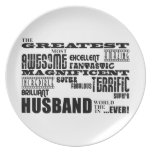 Fun Gifts for Husbands : Greatest Husband Party Plate