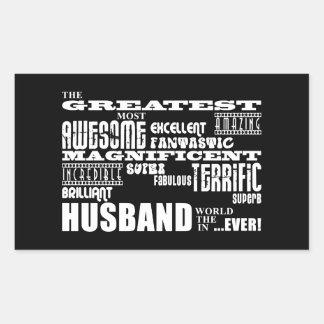Fun Gifts for Husbands : Greatest Husband Rectangular Sticker
