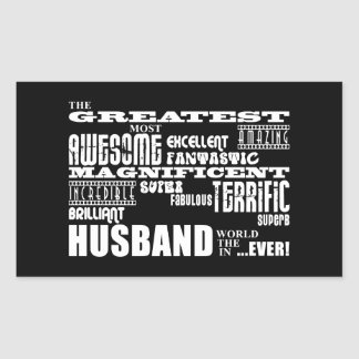 Fun Gifts for Husbands : Greatest Husband Rectangular Stickers