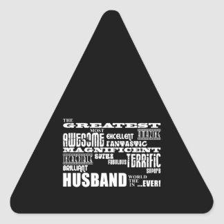 Fun Gifts for Husbands : Greatest Husband Triangle Stickers