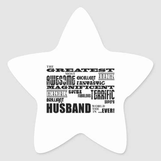 Fun Gifts for Husbands : Greatest Husband Sticker