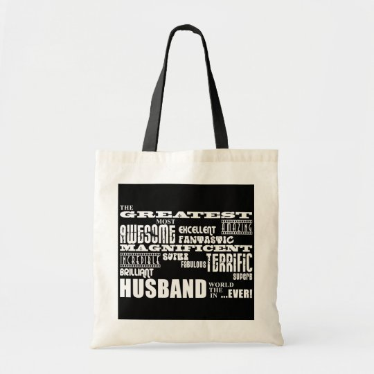 Fun Gifts for Husbands : Greatest Husband Tote Bag