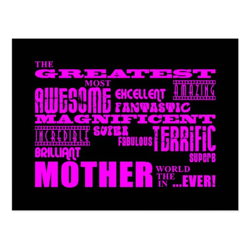 Fun Gifts for Moms : Greatest Mother Post Card