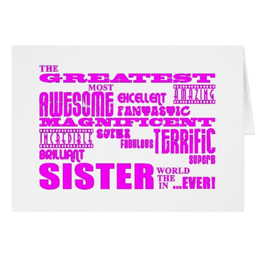 Fun Gifts for Sisters : Greatest Sister Stationery Note Card