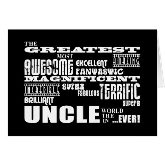 Fun Gifts for Uncles : Greatest Uncle Card