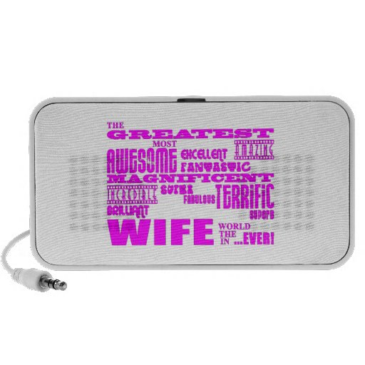 Fun Gifts for Wives : Greatest Wife Notebook Speakers
