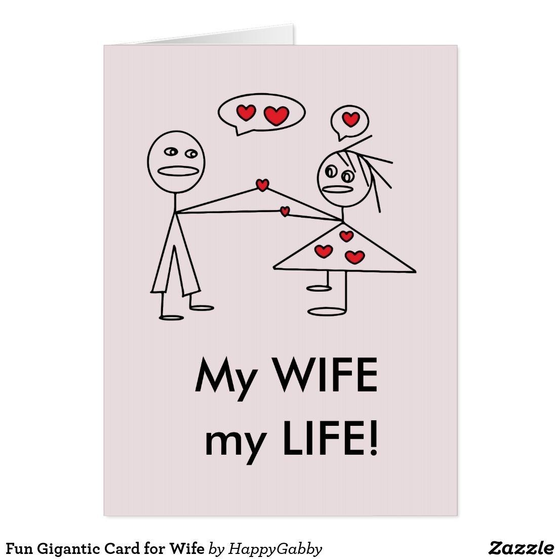 Gigantic Card for Wife