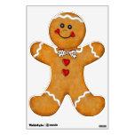 Fun Gingerbread Man Room Stickers