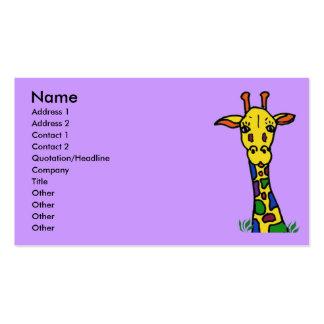 fun giraffe business cards