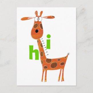 Fun Giraffe Postcard postcard