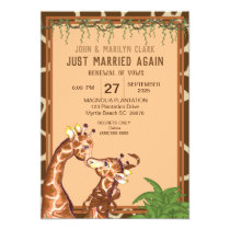 Fun  Giraffe Wedding Renewal Vows Invitations