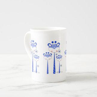 Fun Giraffes -- Blue Tea Cup