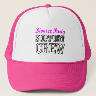 Fun Girls Night Out support crew Divorce Party Trucker Hat
